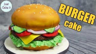 How to make a hamburger cake! EASY WAY - it