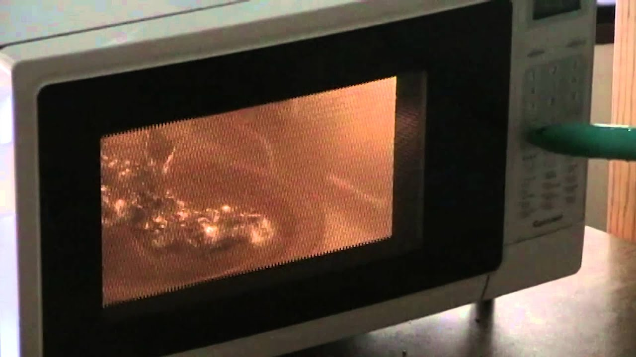 Microwave This Tin Foil Youtube
