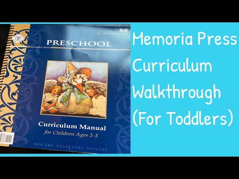Memoria Press Preschool (2-3) Walkthrough| Homeschool