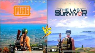 🔥 Pubg Mobile VS The Last Survivor 🔥 Comparison - Which is best for mobile?