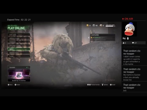 Call of Duty camo challenges streams