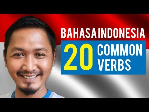 Learn Bahasa Indonesia : 20 Most common verbs