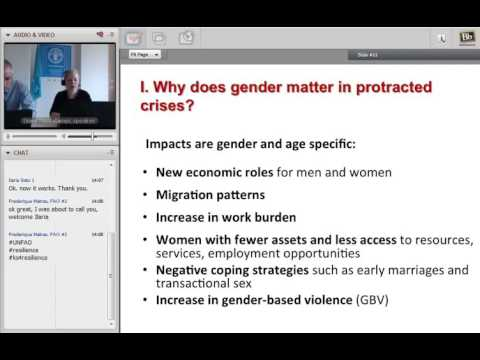 FAO Webinar on resilience #5-Gender equality in protracted crises