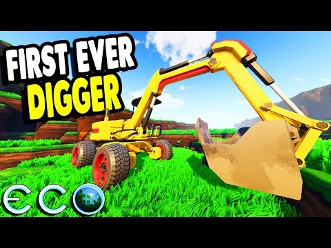 Building the EPIC DIGGER Machine & EPIC CONSTRUCTION | Eco Multiplayer Gameplay