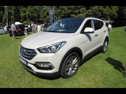 HYUNDAI SANTA FE CRDI 4WD PREMIUM SUV ! WHITE COLOUR ! WALKAROUND + INTERIOR ! MODEL 2017 !