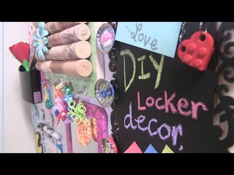 DIY LOCKER DECOR : Cork Board Decoration - Back To School How To   SoCraftastic