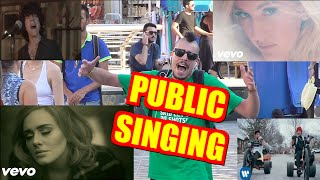 Public Singing | Hello - Stressed Out - Love Me Like You Do - Lost On You | Tsach