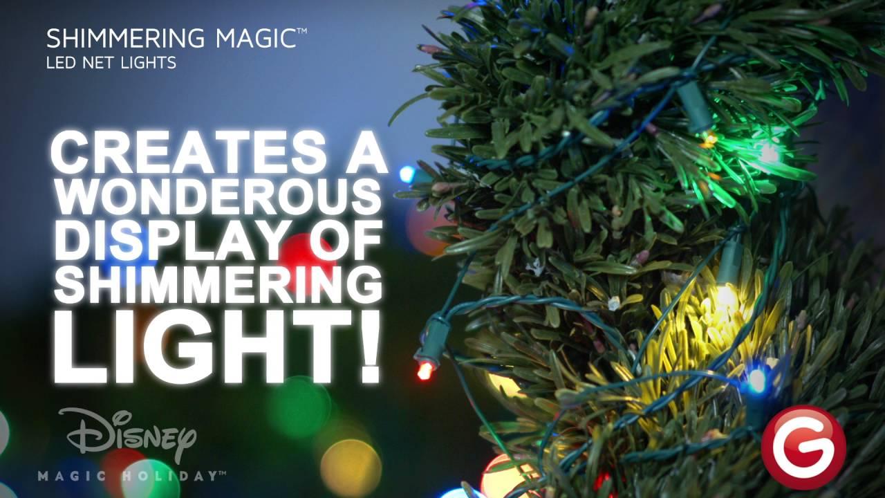 shimmering magic led net lights multicolor