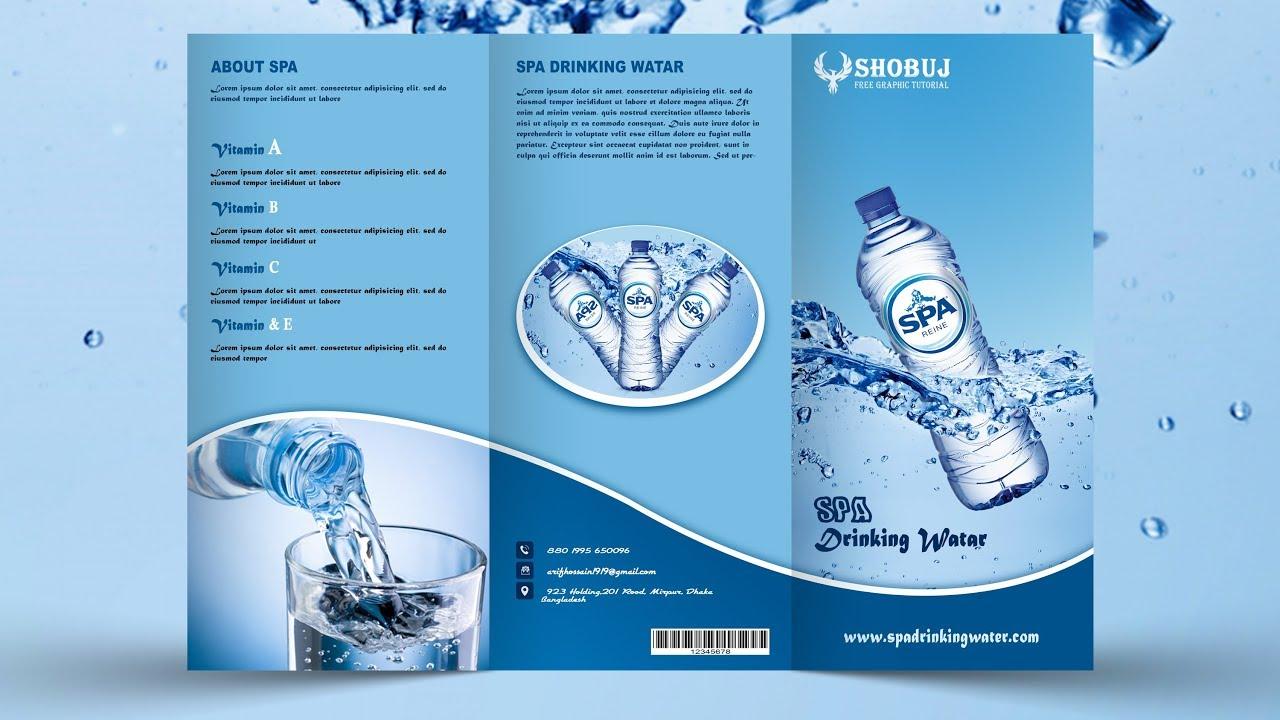 Tri Fold Brochure Design | In Photoshop cc Tutorial by Shobuj