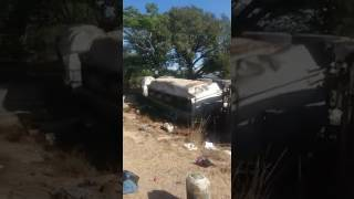 GONYET TRUCK IN ACCIDENT WITH COW, COLLAPSES
