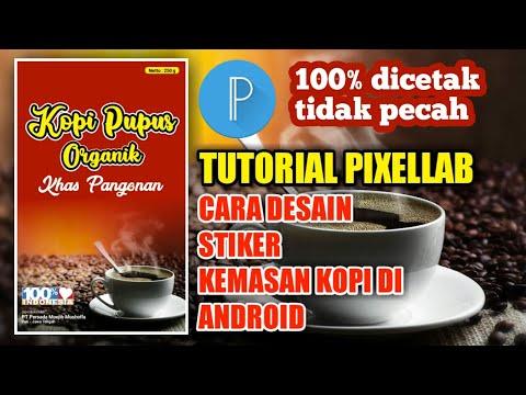 Tutorial Pixellab - Cara Desain Stiker Kemasan Makanan Ringan dari Android.