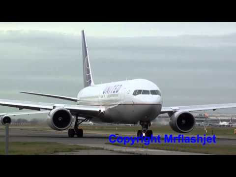 United Airlines 767-200ER {N73152}  at London Heathrow Airport