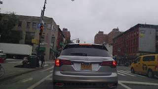 Driving by East Harlem in Manhattan,New York