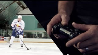 Pro hockey player Dion Phaneuf plays NHL 14 - Reality Check