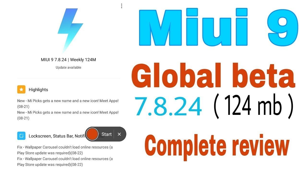 Miui 9 New Global Beta Weekly Update 7 8 24 For Redmi Note 4