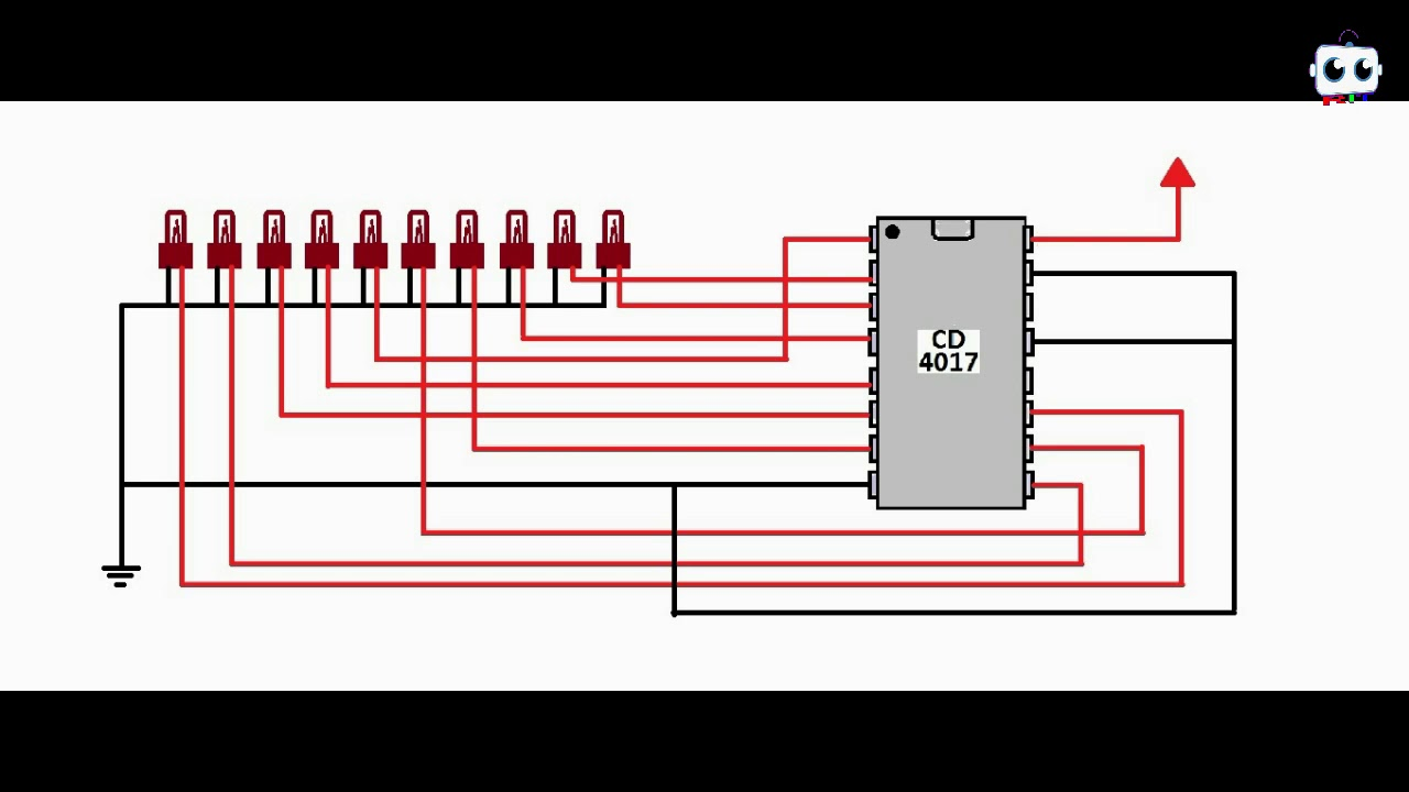 Electronics cours of 4017 lighting IC - YouTube