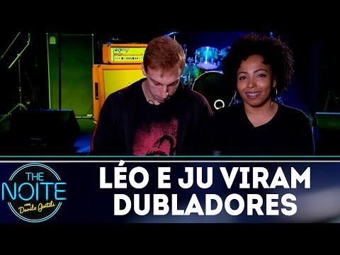 Léo Lins e Juliana viram dubladores | The Noite (13/08/18)