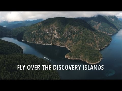Fly Over The Discovery Islands - Campbell River, BC Vancouver Island