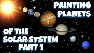Painting Planets of The Solar System Part 1 - Mercury and Venus