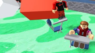 A BIG GREEN SCREEN!?!? | Roblox Escape High School Obby with Leoawesome267