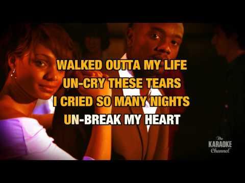 Un-Break My Heart in the Style of
