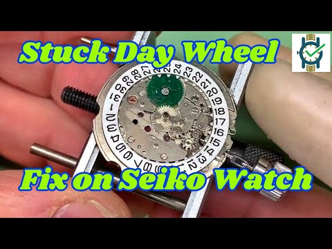 How To Fix A Stuck Date Wheel On A Seiko Watch