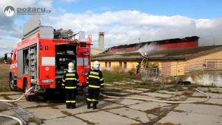 POŽÁRY.cz: Požár vepřína v Dolních Životicích na Opavsku