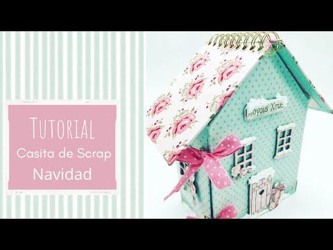 Tutorial Estructura álbum casita Navidad