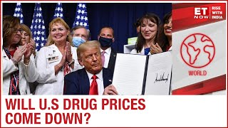 US President Donald Trump signs four executive orders aiming to lower the drug prices