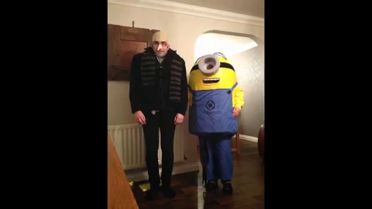 How to make a Despicable Me minion costume Halloween  sc 1 st  YouTube & How to make a Despicable Me minion costume: Halloween - YouTube