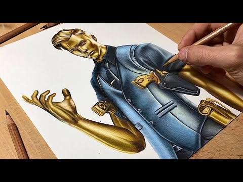 Drawing Midas Golden Touch - Fortnite