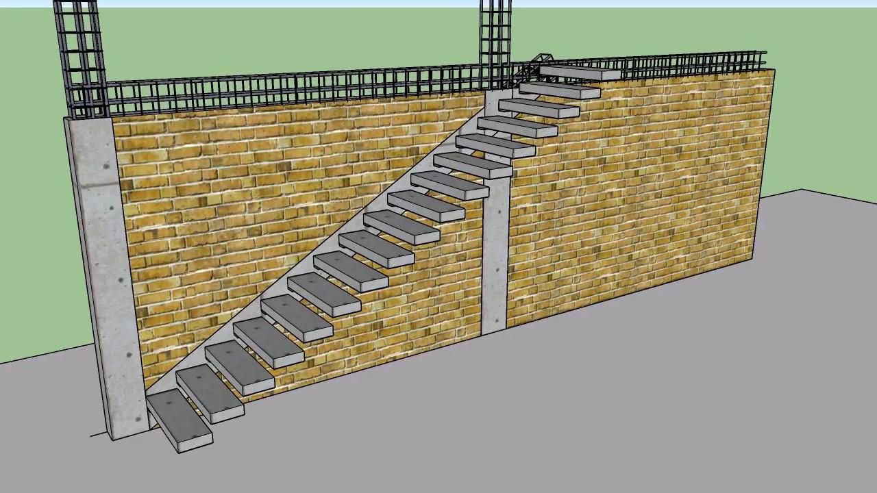 Como construir una escalera de concreto armado youtube for Encofrado de escaleras de concreto