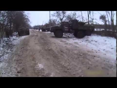 ВОЙНА видео Украина  Бои под Дебальцево   Начало наступления   Ополченцы   АТО