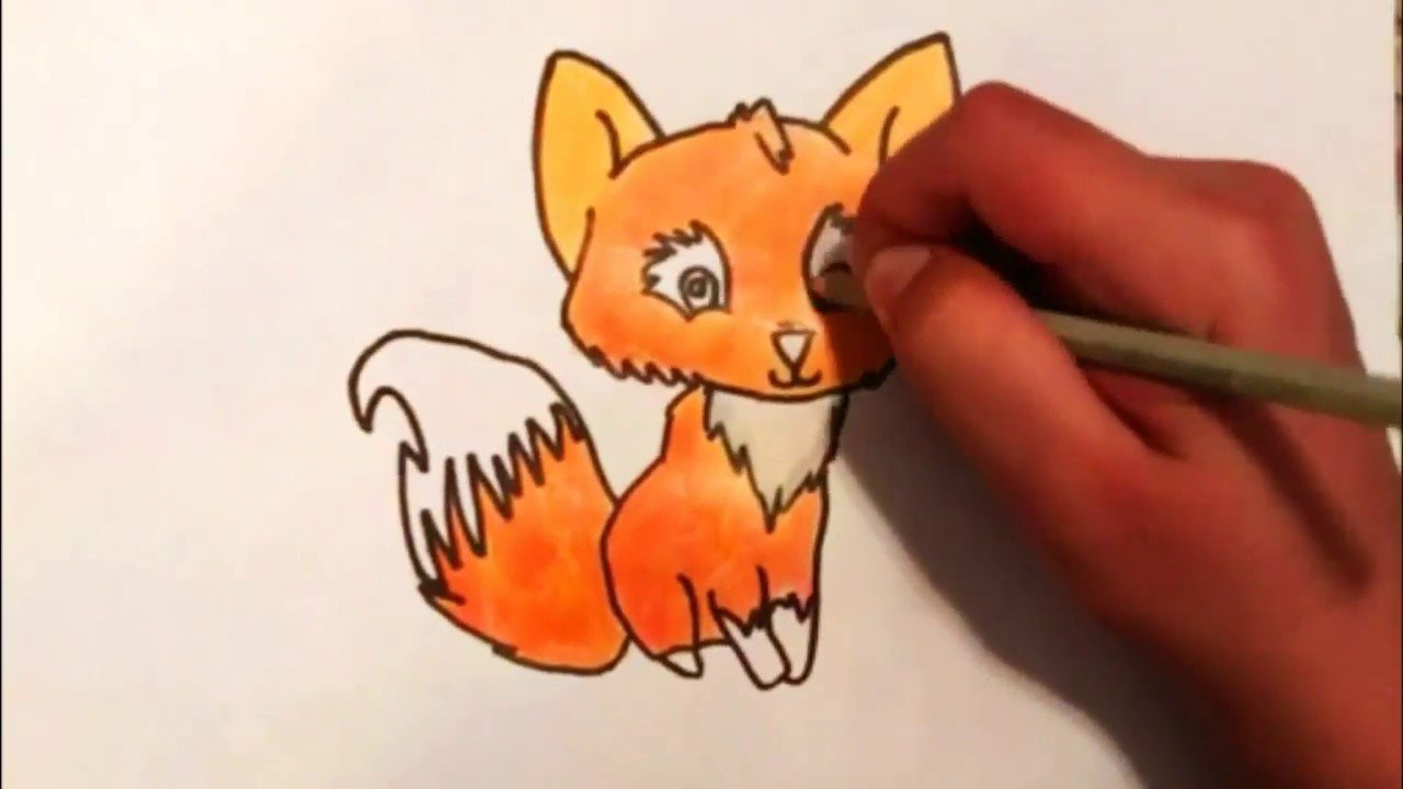 Cok Kolay Tatli Tilki Cizimi How To Draw Cute Fox Drawing Youtube