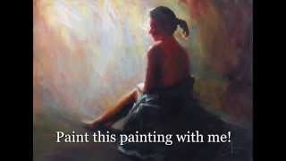 Painting class - paint this Figure painting in oil or acrylic, learn Impressionism