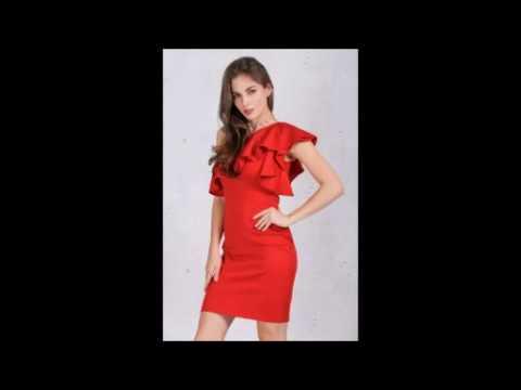 Красное Платье с воланами, с открытым плечом Red Hot Dress Buy Flounced Shoul Aliexpress