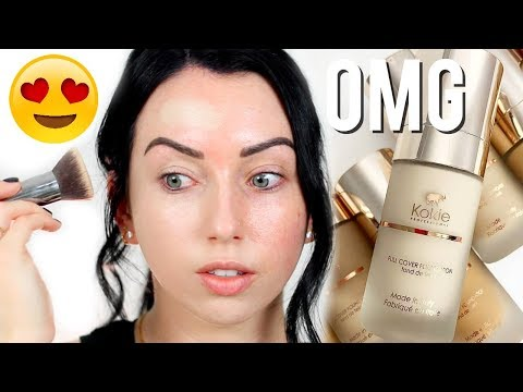 BEST NEW DRUGSTORE FOUNDATION?! Kokie Full Coverage Matte Foundation Review & Demo