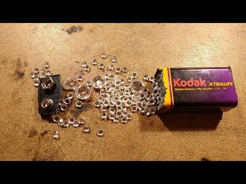 How many diamonds can you smuggle in a 9V battery.