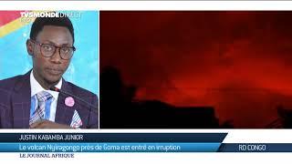 RDC : le volcan Nyiragongo en éruption à Goma