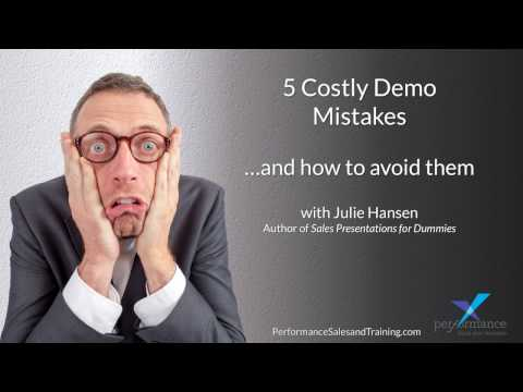 5 Costly Demo Mistakes Introduction
