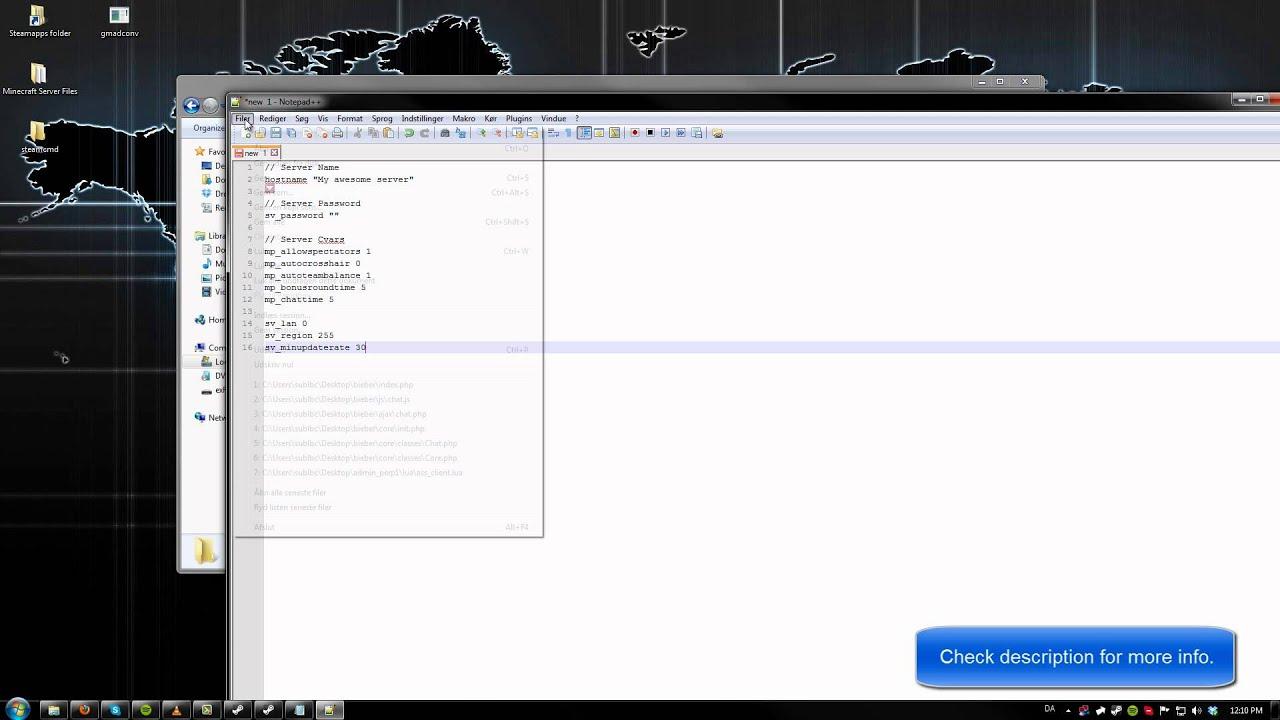 Setup a free PUBLIC Team Fortress 2 server :: Server Setup