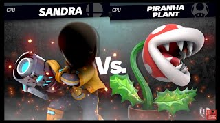 Super Smash Bros Ultimate Amiibo Fights   Request #1320 SANDRA vs Piranha Plant