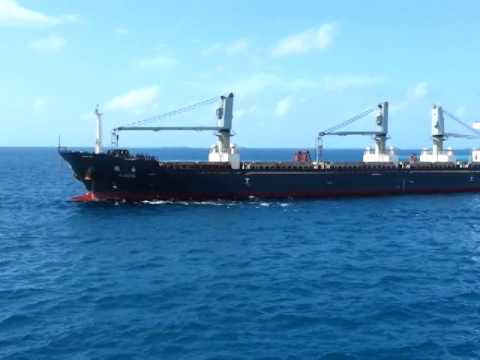 Maldives Port - Cargo Ship Entering Harbour