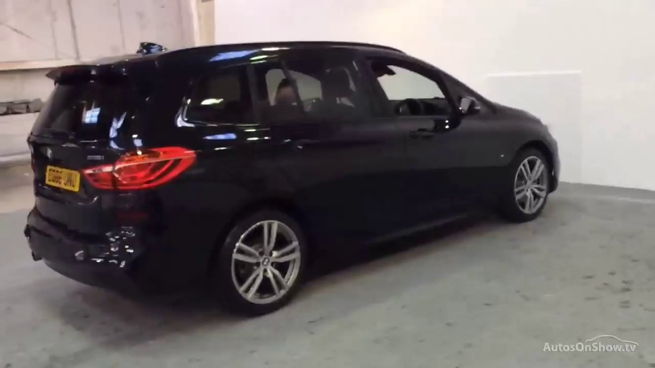 bmw 2 series 218i m sport gran tourer black 2016 youtube. Black Bedroom Furniture Sets. Home Design Ideas