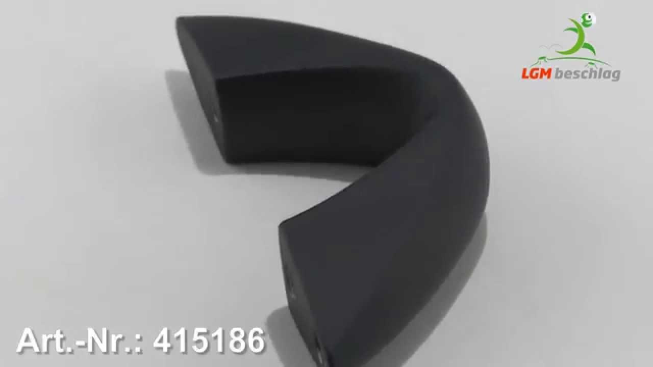 Möbelgriff Design Kunststoff Gummieffekt Schwarz Artnr 415186