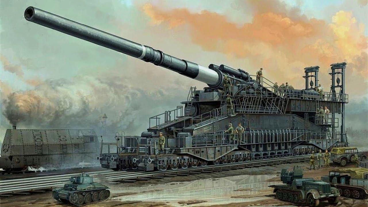 Hasil gambar untuk Dora and Gustav Rail Cannon
