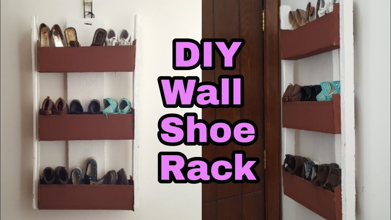 Diy how to cardboard shoe rack cardboard shoe organizer wall diy how to cardboard shoe rack cardboard shoe organizer wall door shoe rack solutioingenieria Image collections