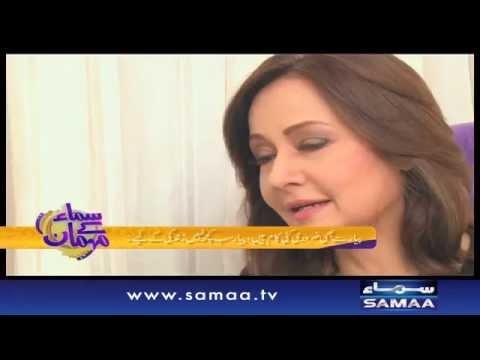 Zeba bakhtiar bani hamari Mehmaan - Samaa Kay Mehmaan - 16 Nov 2015