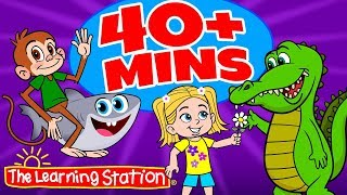 Preschool Songs ♫ Get Funky (Funky Monkey), Baby Shark + More ♫ Kids Songs ♫ The Learning Station