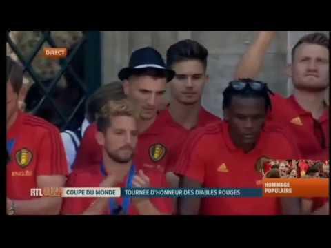 Le retour des diables rouges en Belgique 2018